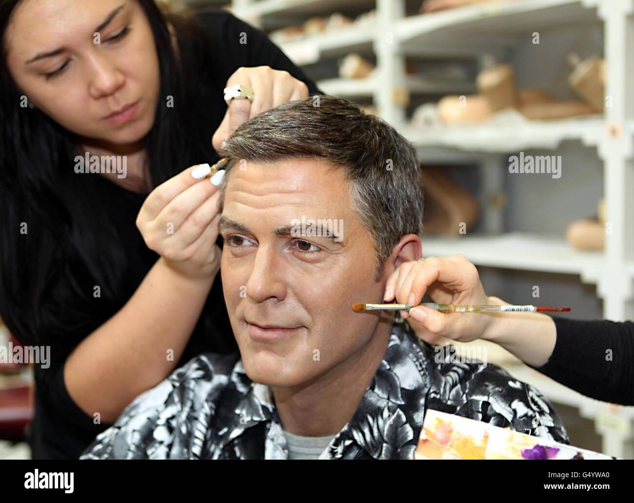 George Clooney wax figure - Stock Image