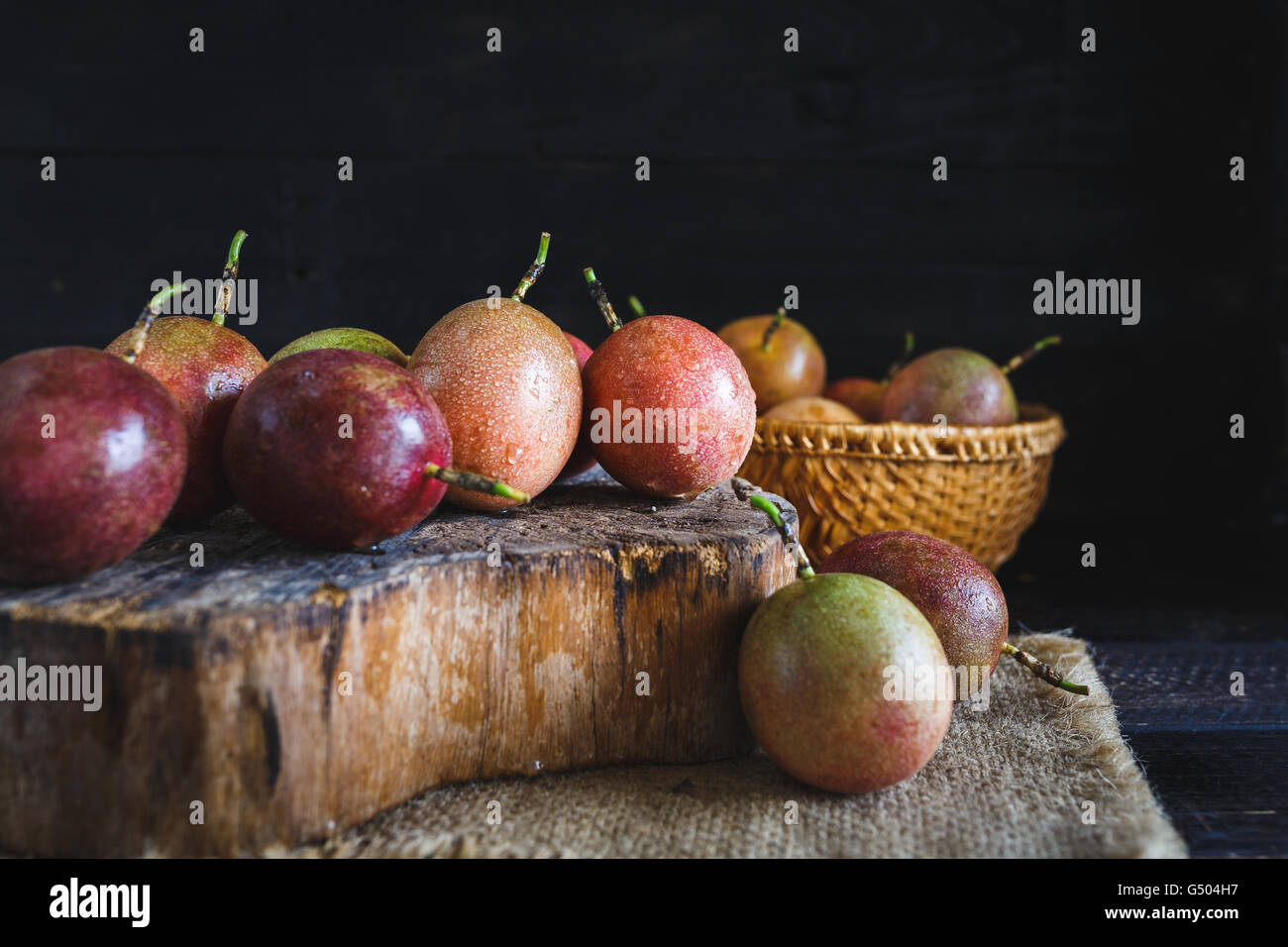 Passion Fruits - Stock Image
