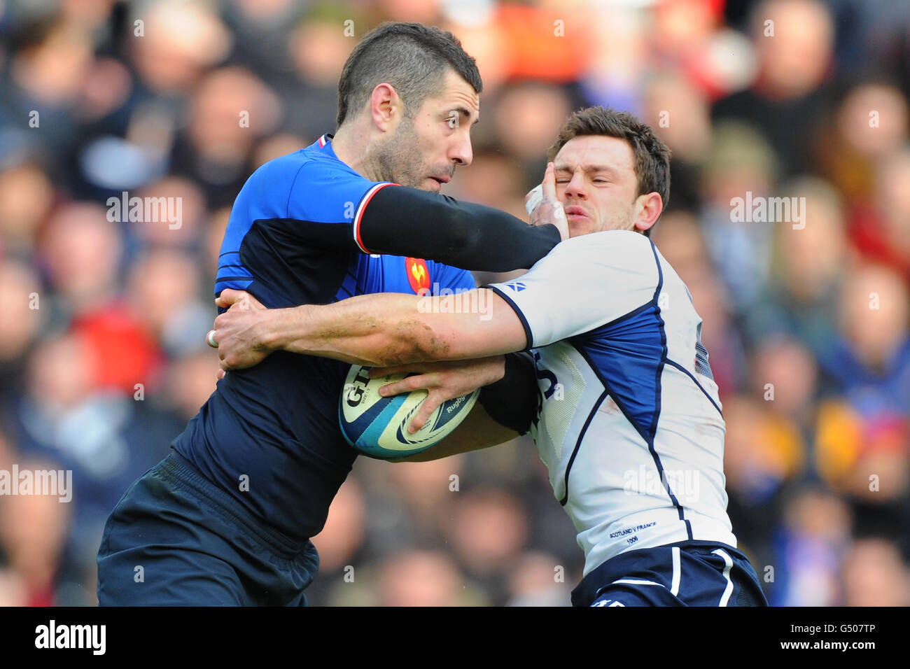 Rugby Union - RBS 6 Nations Championship 2012 - Scotland v France - Murrayfield - Stock Image