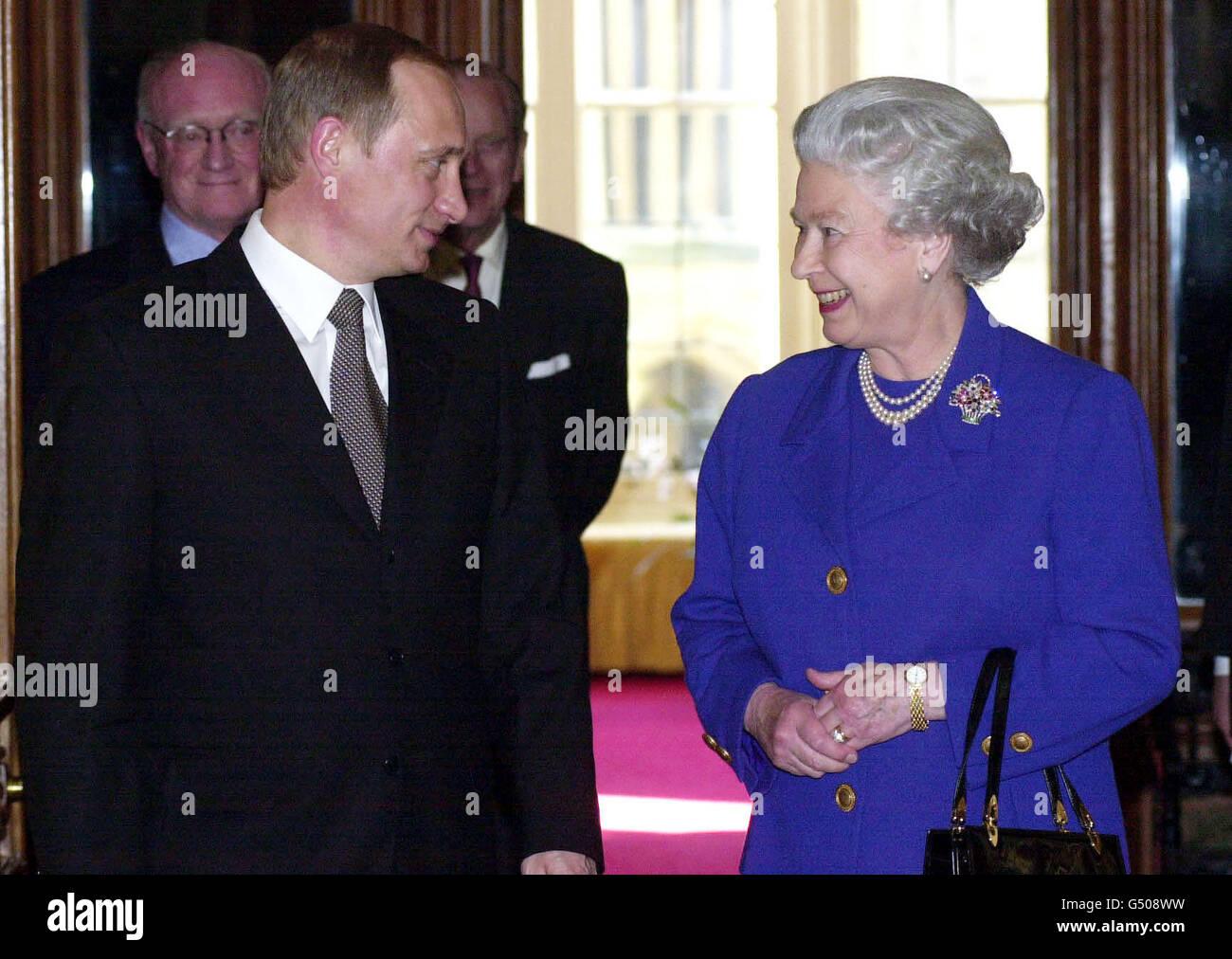 Putin visit Queen Windsor - Stock Image