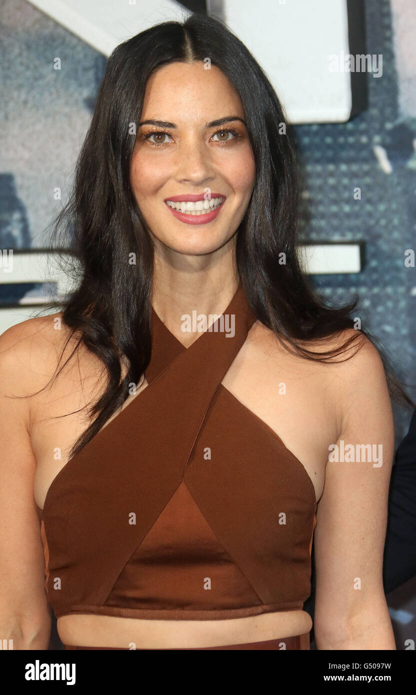 May 9, 2016 - Olivia Munn attending 'X-Men Apocalypse' Global Fan Screening at BFI Imax in London, UK. - Stock Image
