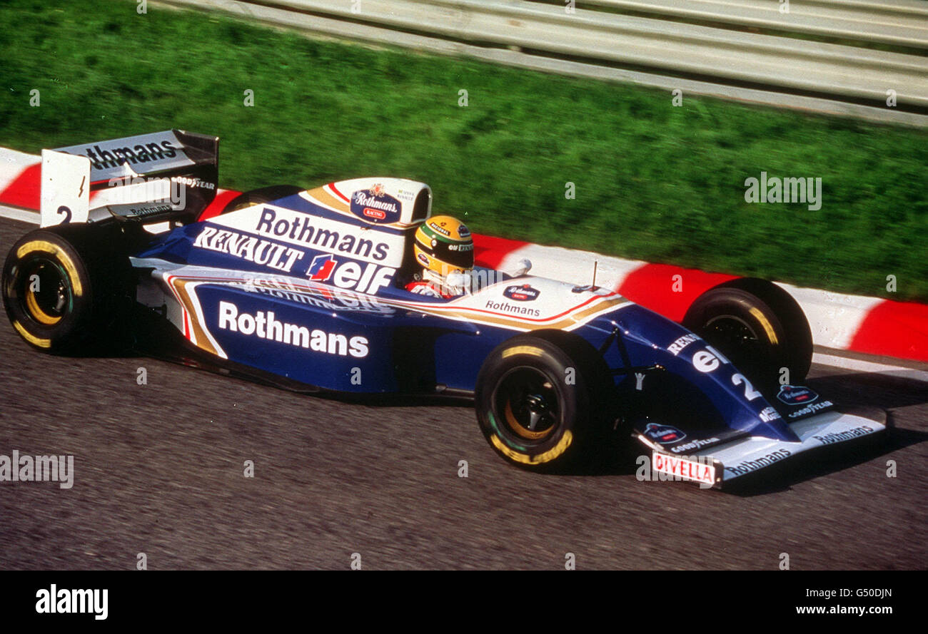 Portugal F1 Senna Williams Testing Stock Photo Alamy