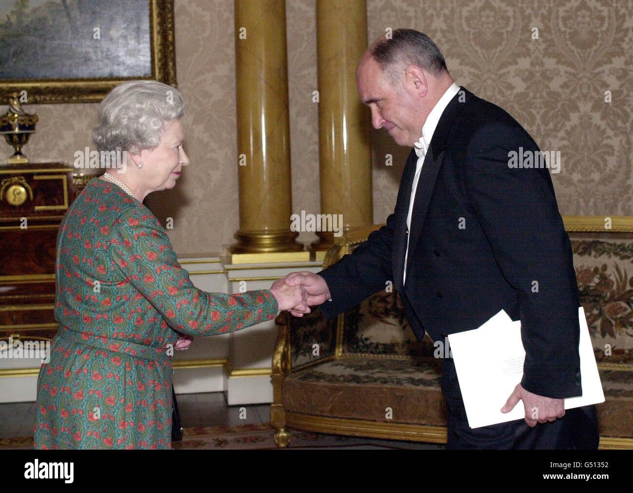 Queen Russia Ambassador Karasin - Stock Image