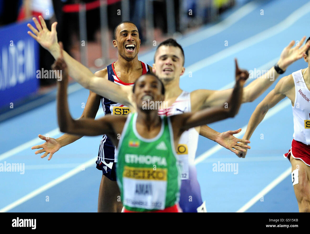 Athletics - IAAF World Indoor Championships - Day Three - Atakoy Athletics Arena - Stock Image