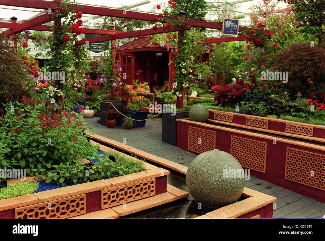 Chelsea garden award winners Stock Photo