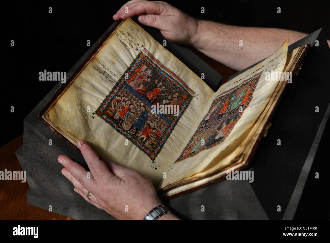 Haggadah on display - Stock Image