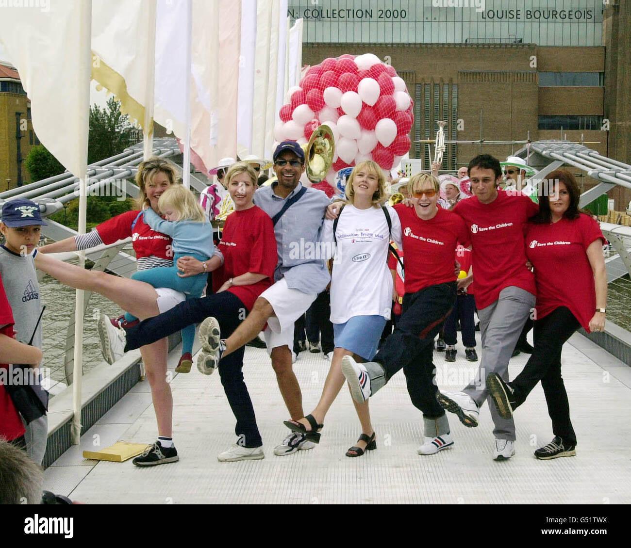Millennium Bridge Celebrities - Stock Image