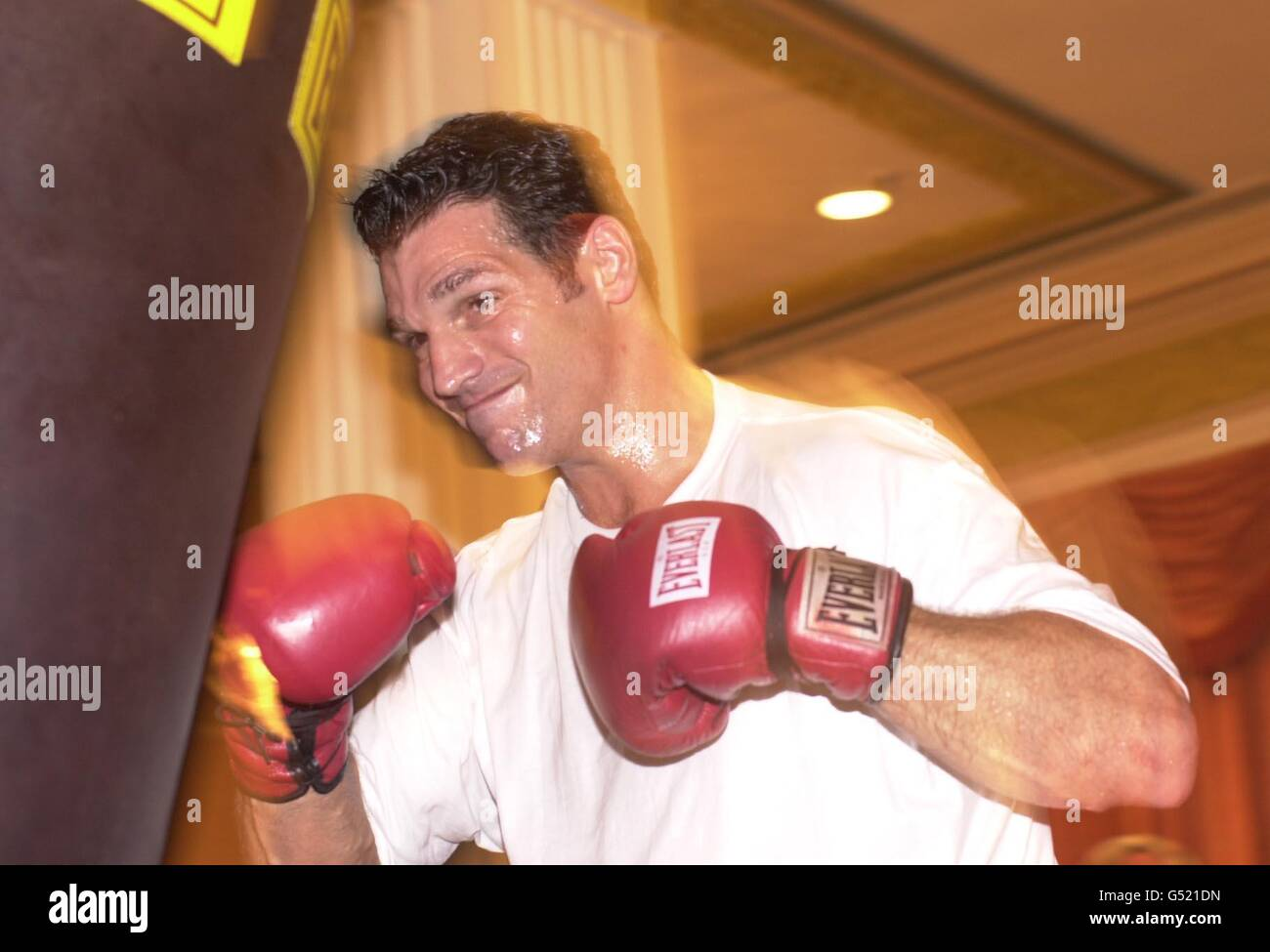 Tyson boxing Savarese training Stock Photo