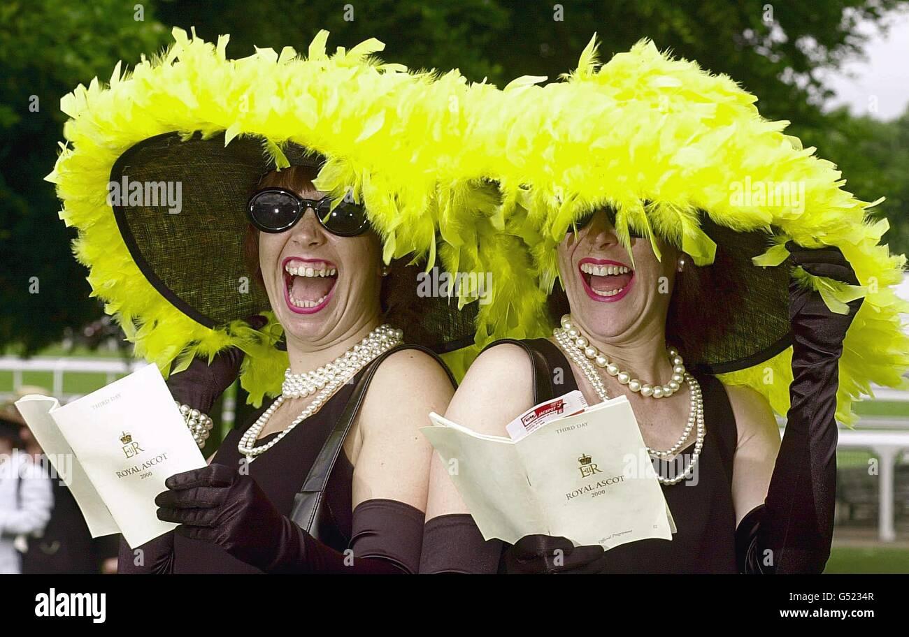 Royal Ascot fashion hats - Stock Image
