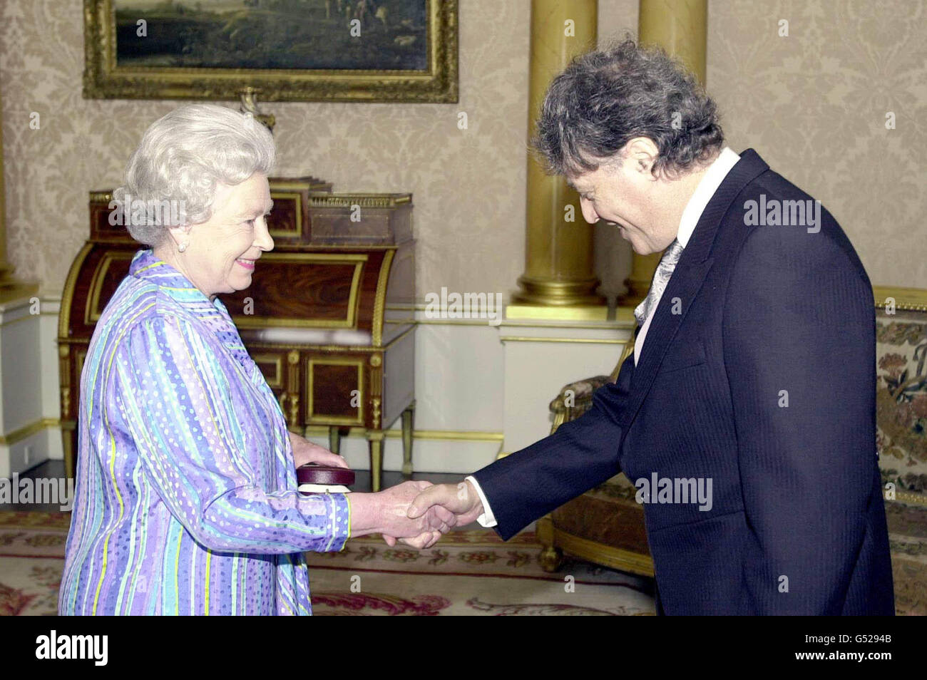 Queen and Tom Stoppard - Stock Image