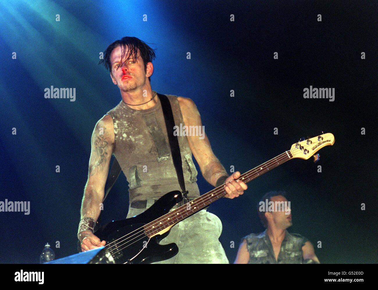 Glastonbury 2000 Nine Inch Nails - Stock Image
