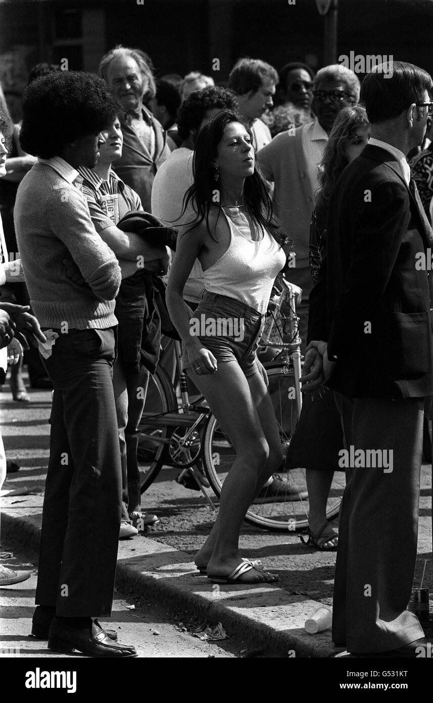 Dancing at the Notting Hill Carnival - Stock Image