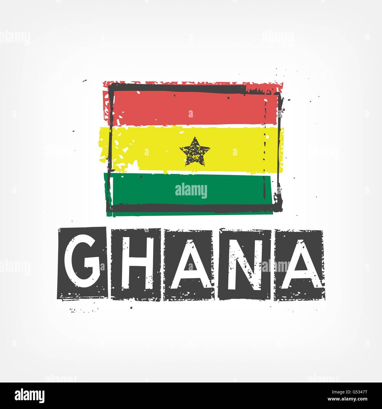 Ghana flag stylized - Stock Vector