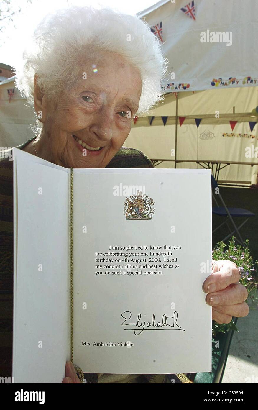 queen mother 100th birthday stock image
