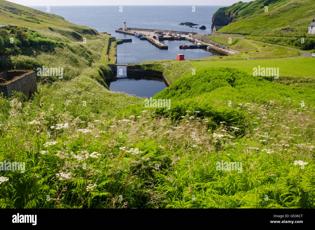 United Kingdom, Scotland, Highlands, Lybster, Lybster of Caithness in northern Scotland, Former fishing port - Stock Image