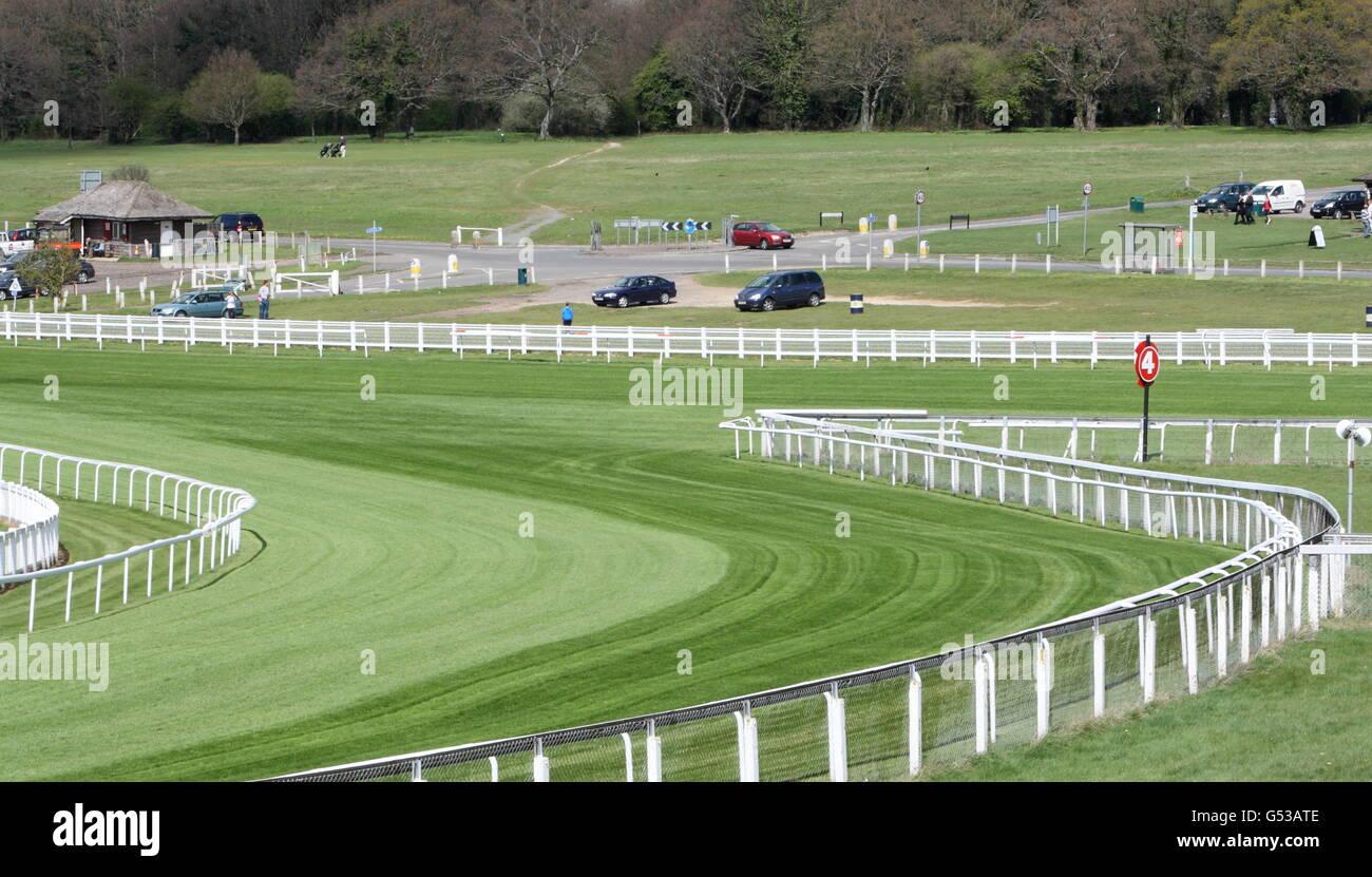 Epsom Racecourse stock - Stock Image