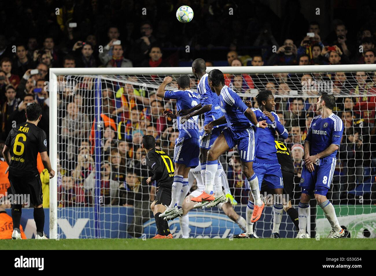 Soccer - UEFA Champions League - Semi Final - First Leg - Chelsea v Barcelona - Stamford Bridge - Stock Image
