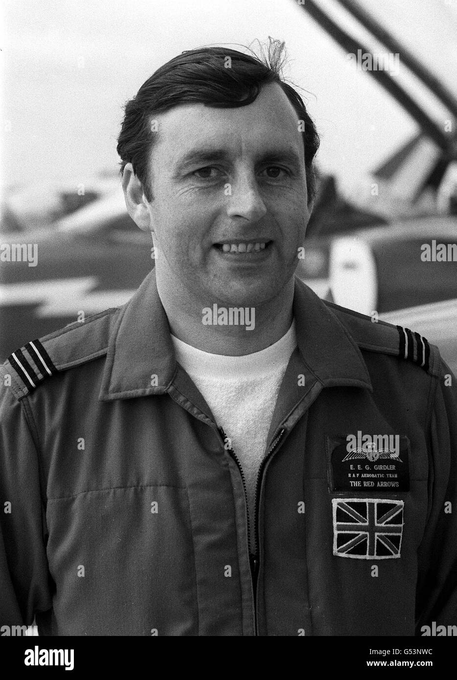 Red Arrows Ted Girdler - Stock Image