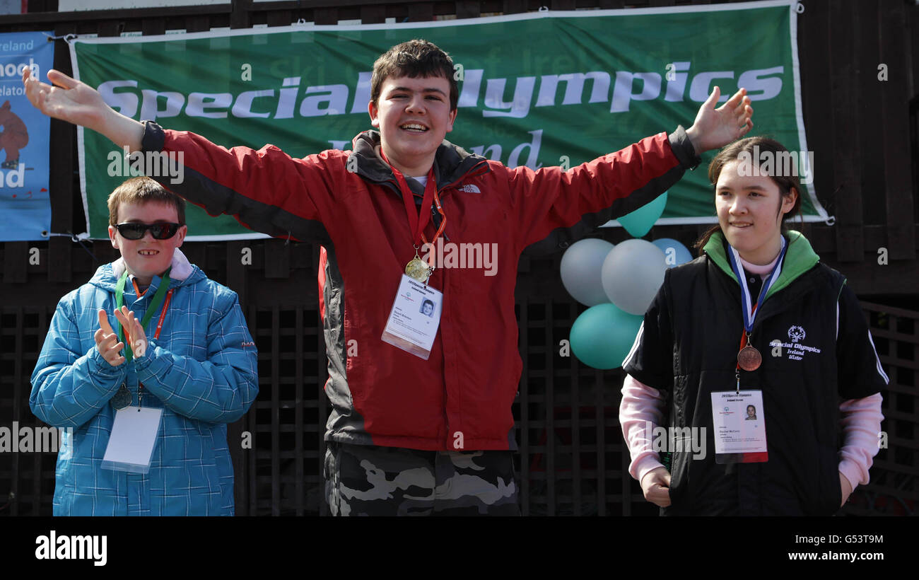 Sport - Special Winter Olympics Qualifying - Kilternan Sky Club - Stock Image