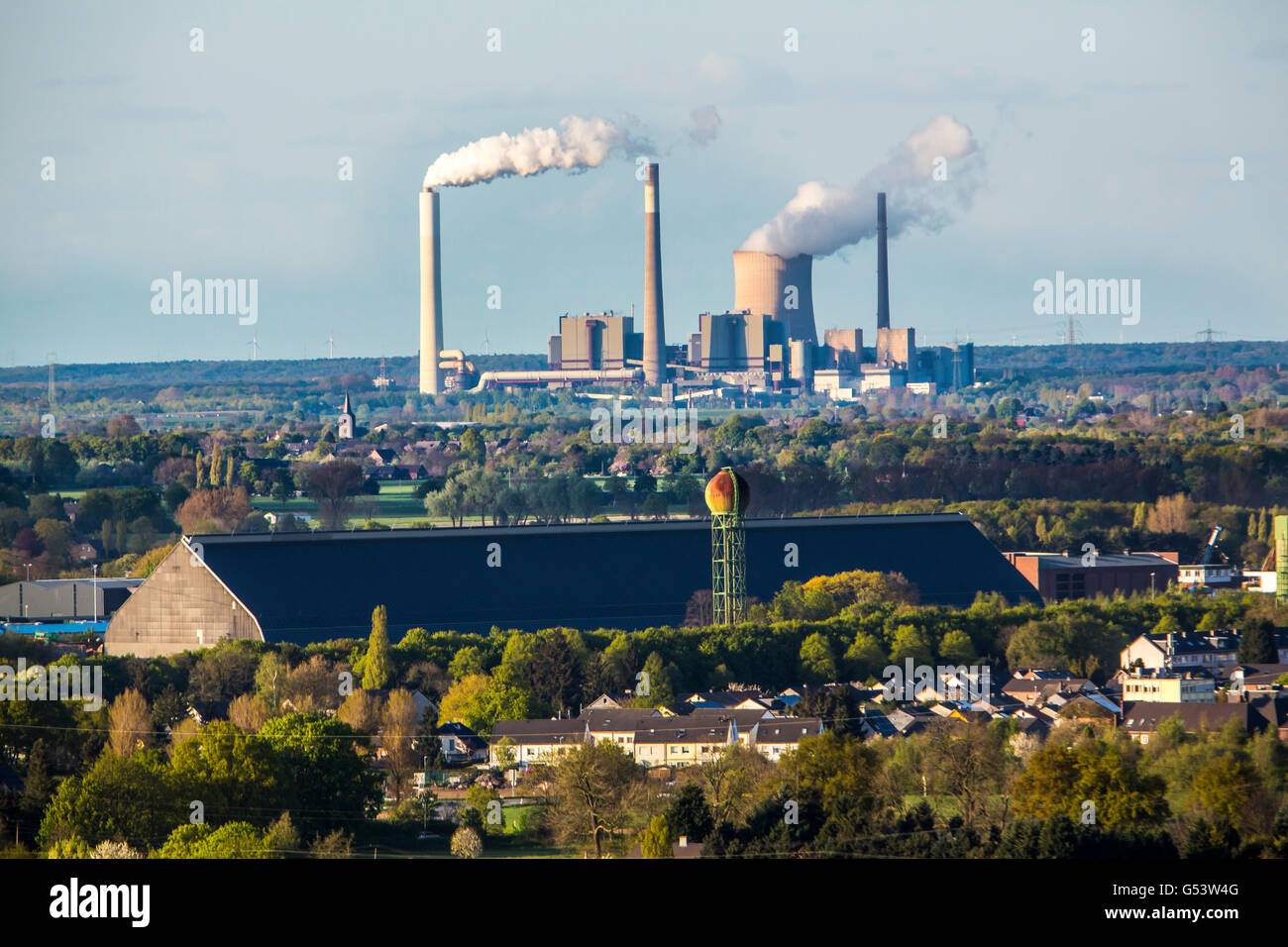 Coal power plant Dinslaken,  operated by  STEAG energy company, Germany - Stock Image