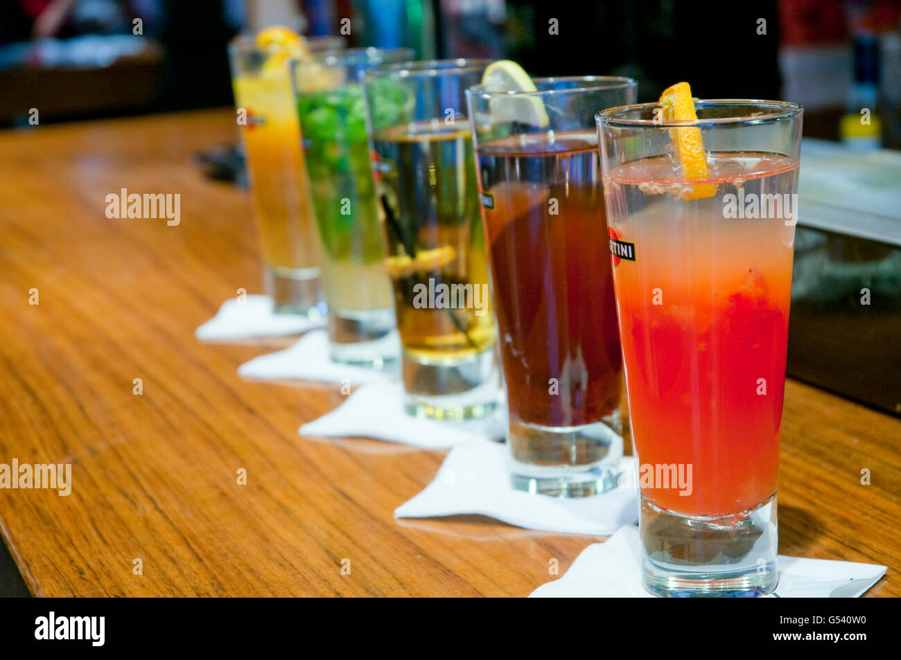 Cocktails. San Miguel market, Madrid, Spain. - Stock Image
