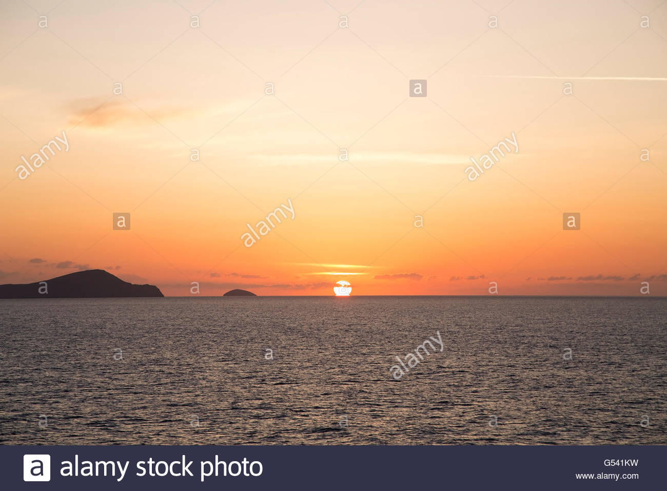 Orange sunset - Stock Image
