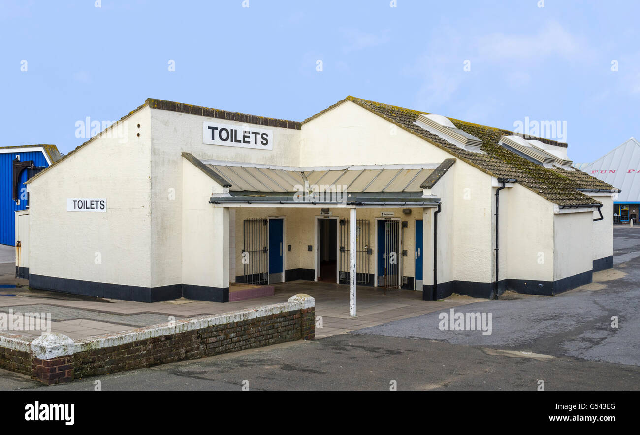 Large public toilets building in the UK. - Stock Image