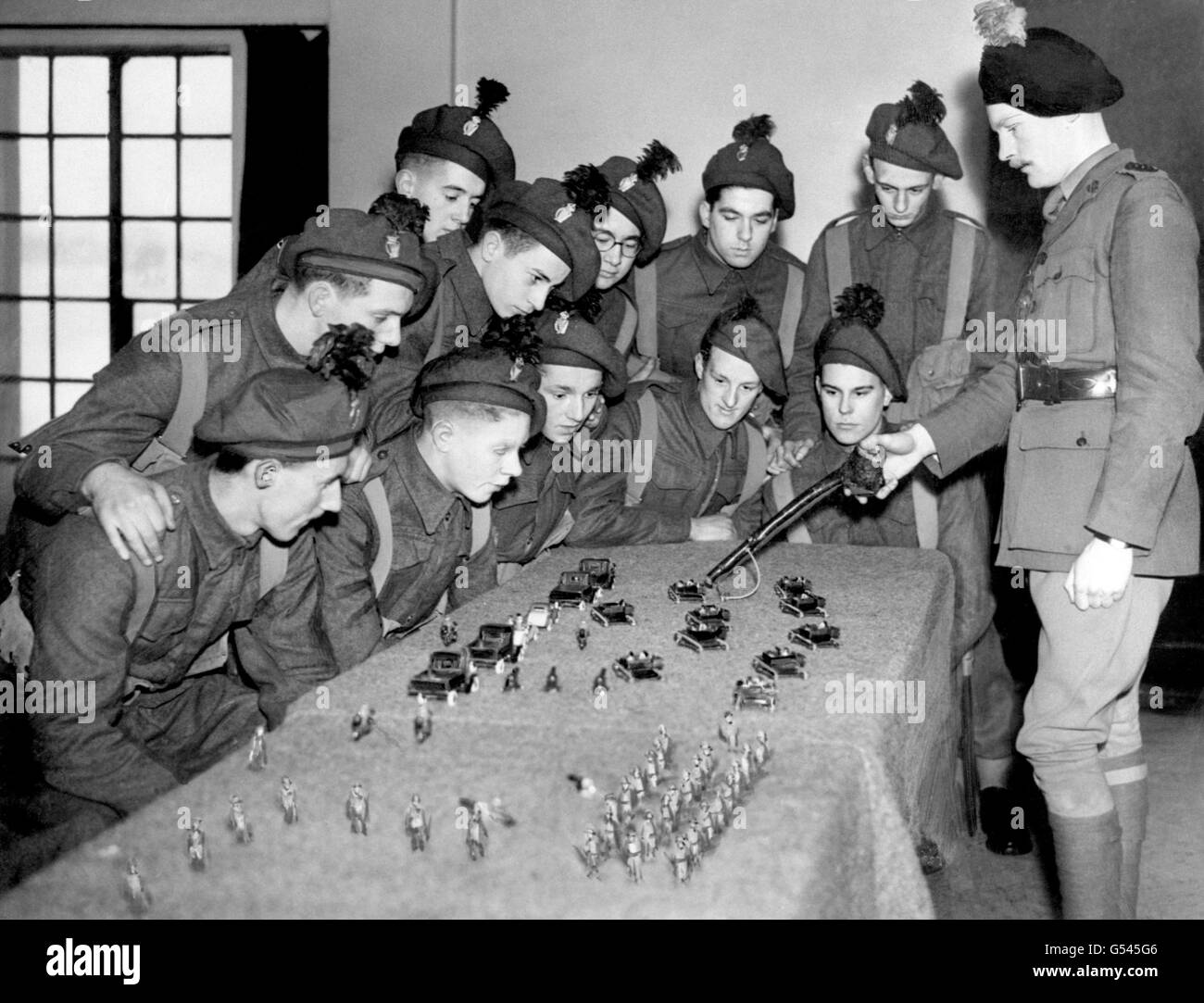 World War Two - British Empire - The Home Front - British Army - Training - 1941 - Stock Image