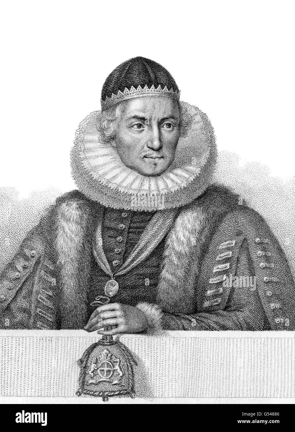 Henry Montagu, 1st Earl of Manchester, c. 1563-1642, an English judge, politician and peer - Stock Image