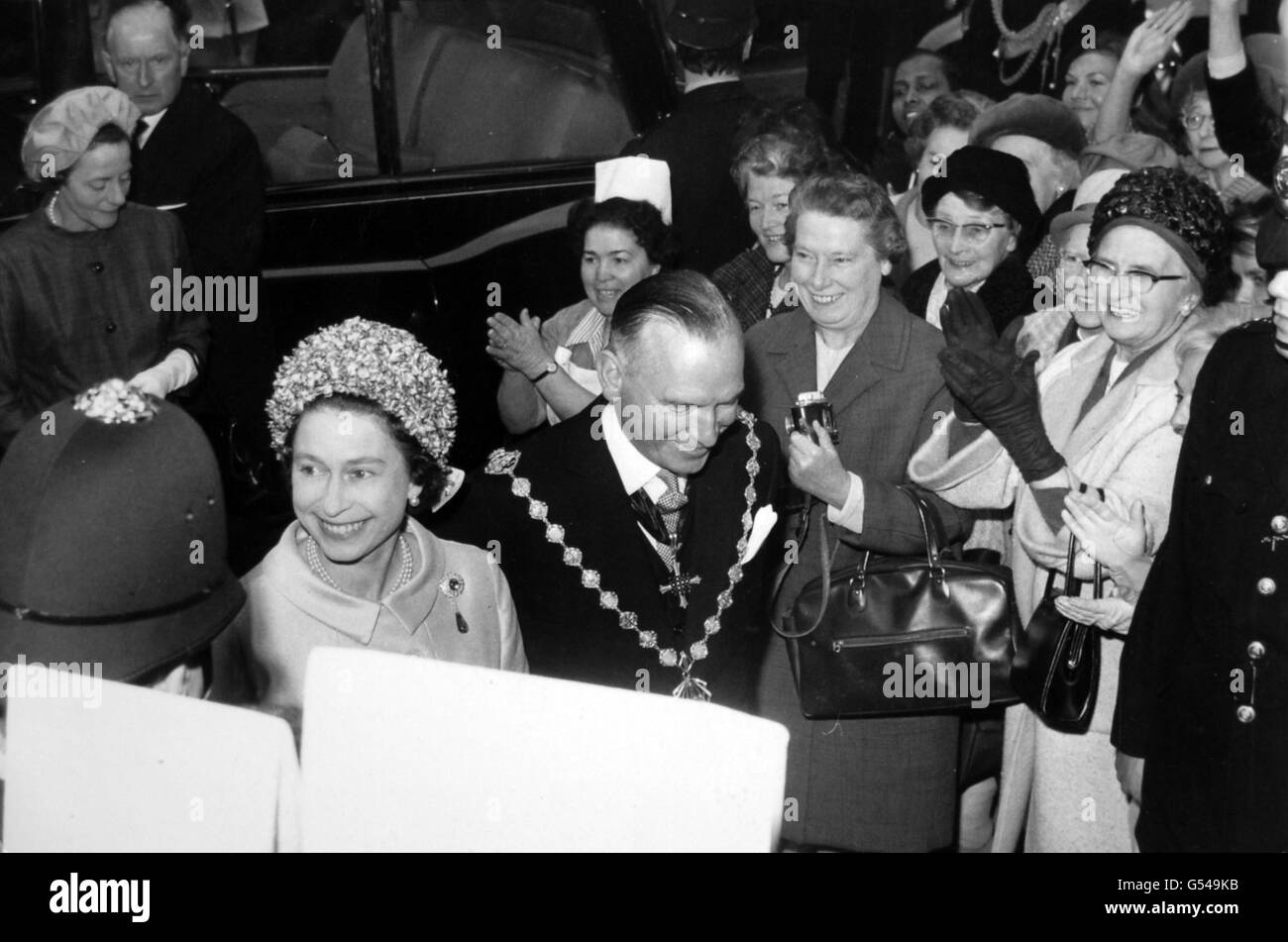 Royalty - Queen Elizabeth II - Charing Cross Hospital, London - Stock Image