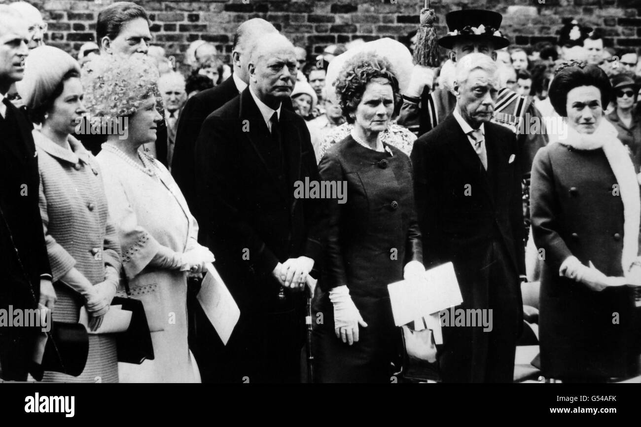 Royalty - Queen Mary Commemoration - Marlborough House, London - Stock Image