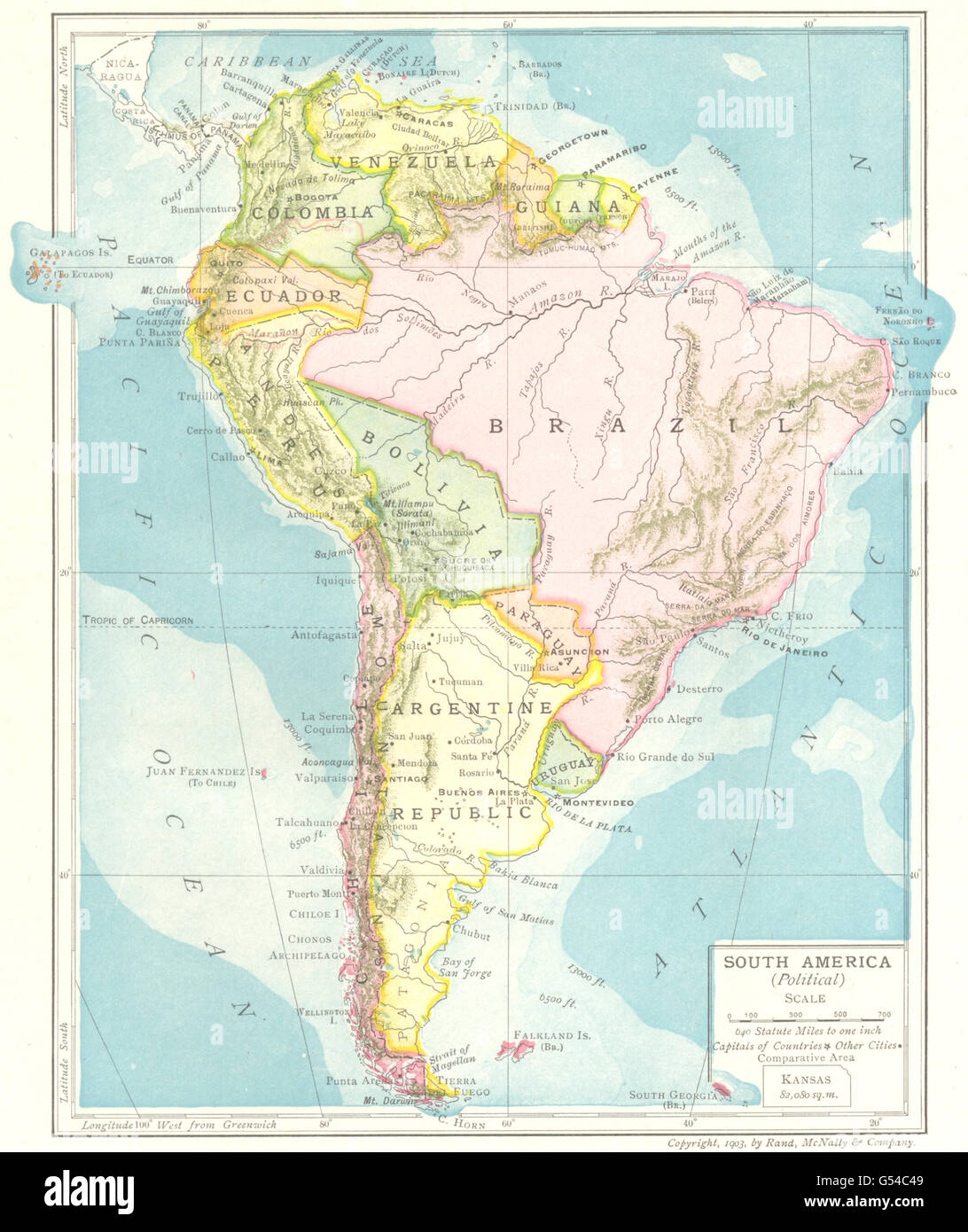 South America Political Guiana Brazil Bolivia Argentine Republic