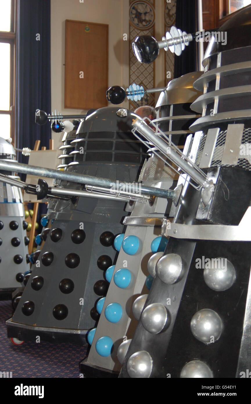 Dalek Invasion of Portsmouth exhibition - Stock Image