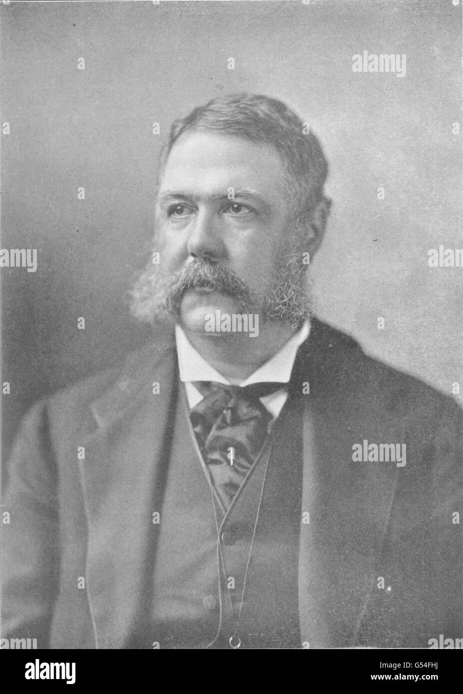 USA: Chester Alan Arthur 21st President of the United States, old print 1907 - Stock Image