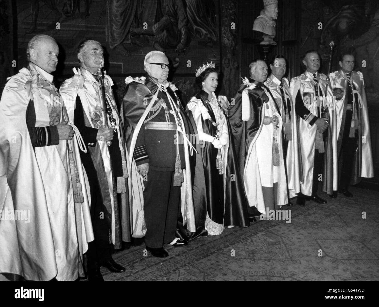 Royalty - Ceremony of the Order of the Bath - Westminster Abbey - Stock Image