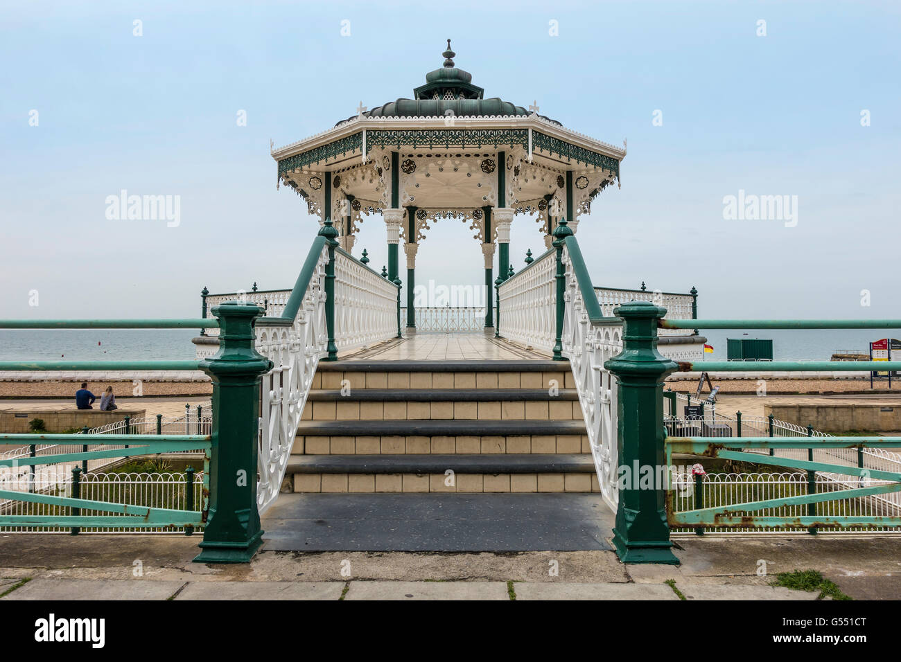 The Bandstand Brighton Seafront Brighton Sussex England - Stock Image