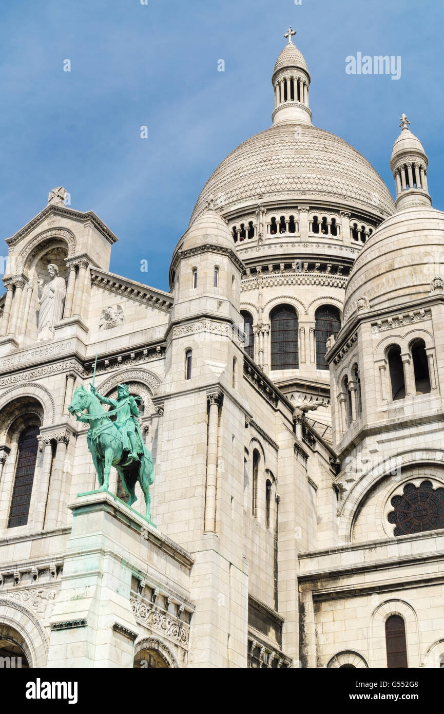 Basilica of the Sacred Heart of Jesus in Paris, France - Stock Image