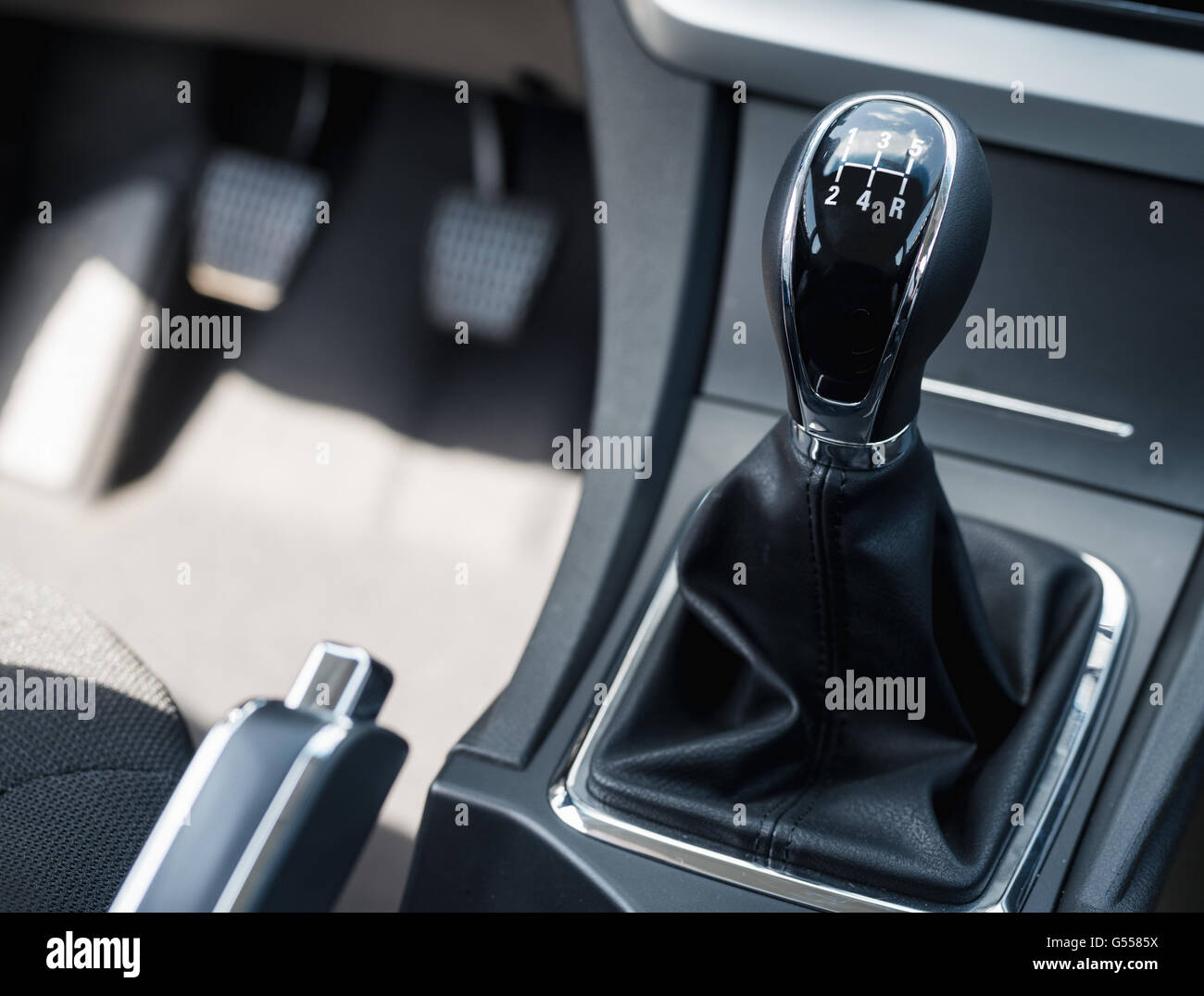 car shift lever - Stock Image