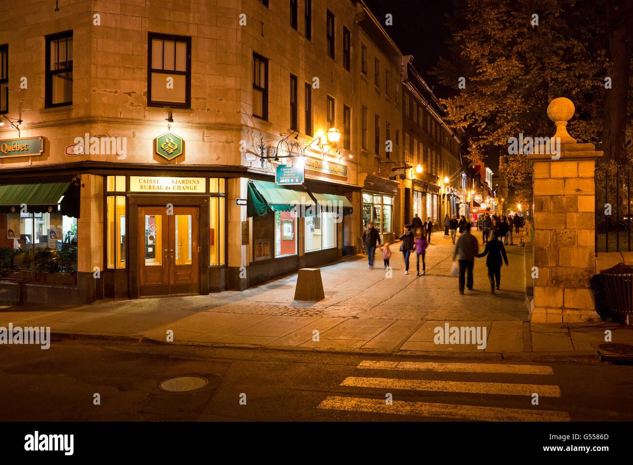 Rue sainte anne pedestrian walkway old quebec city quebec canada