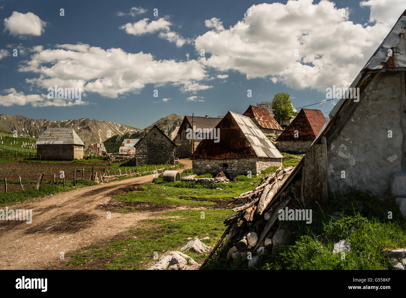 Lukomir, the most remote and higher village of Bosnia-Erzegovina, Europe - Stock Image