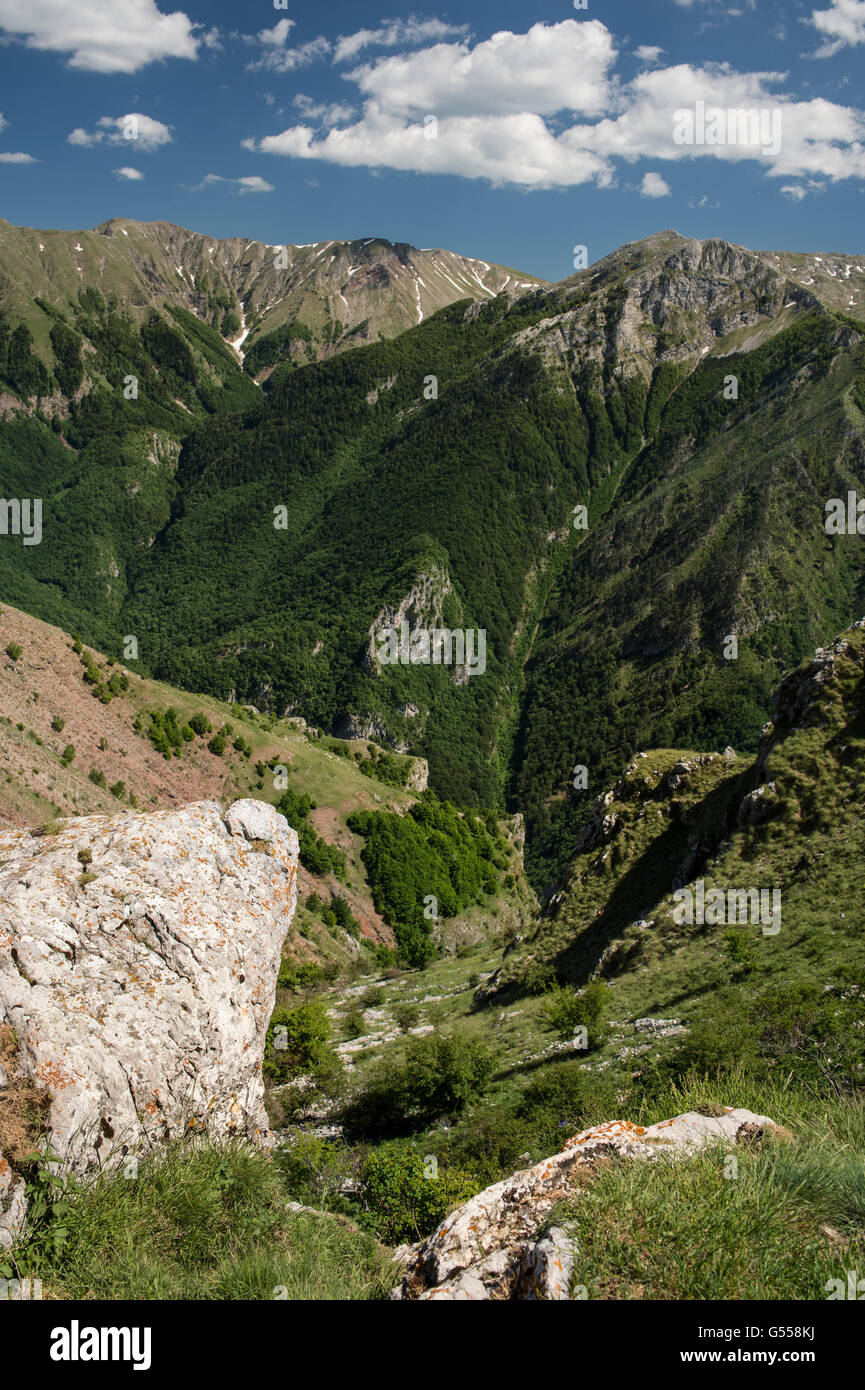 Mountains near Lukomir, the most remote and higher village of Bosnia-Erzegovina  Europe - Stock Image