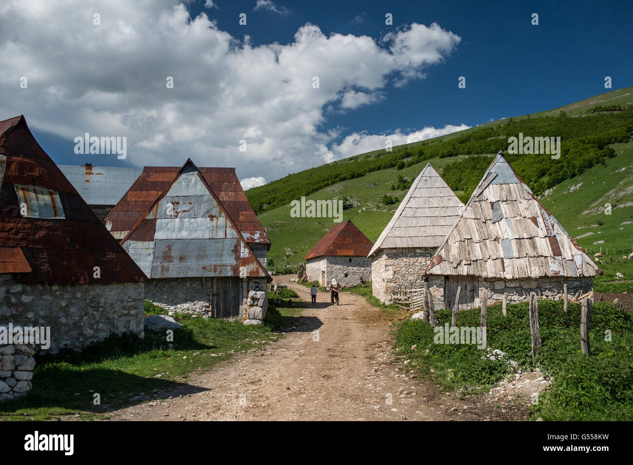 Lukomir, the most remote and higher village of Bosnia-Erzegovina  Europe - Stock Image