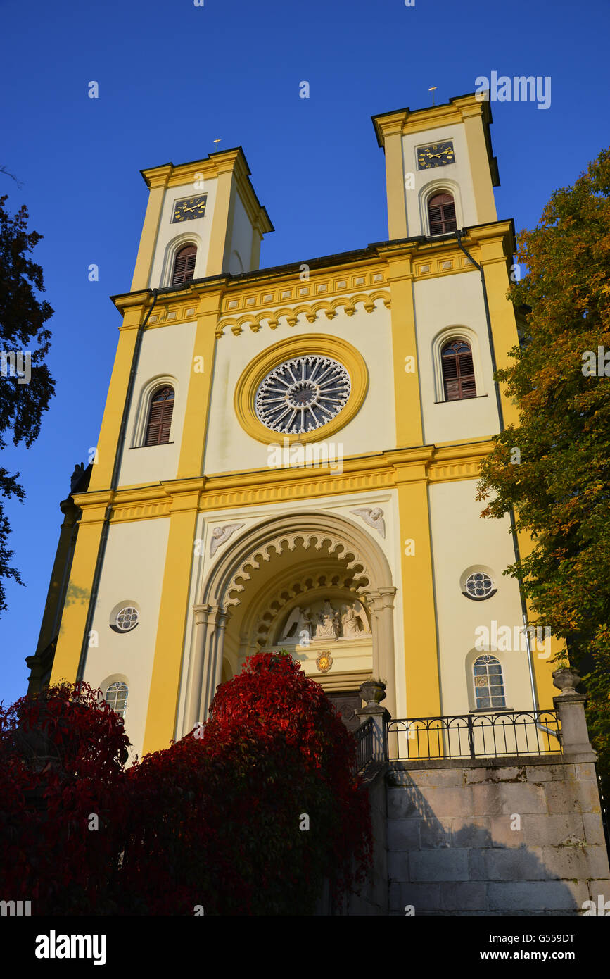 This place of worship was built in the Neo-Byzantine style in 1844-1848. It is an orthogonal basilica. - Stock Image