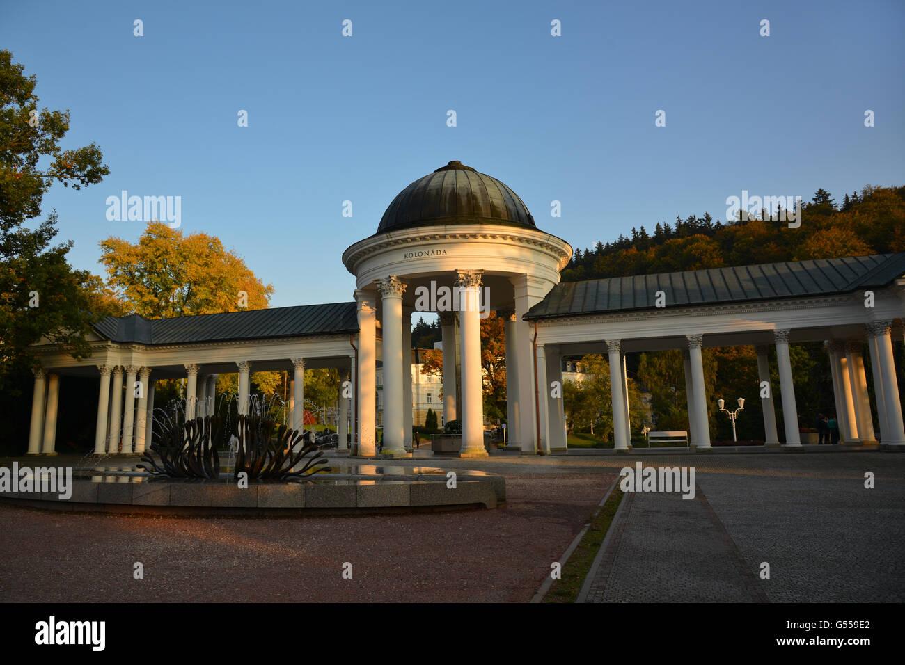 Pavilon Karolinina pramene - Stock Image