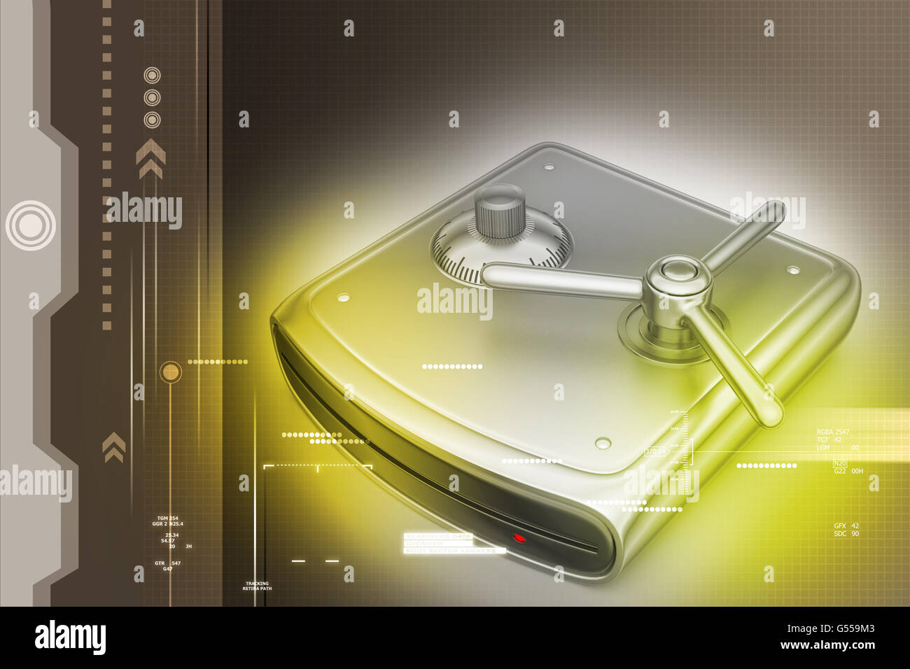 Secure Hard drive - Stock Image