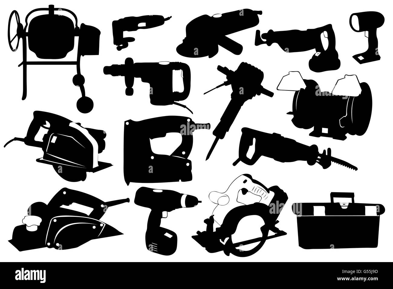 Electric tools isolated - Stock Image