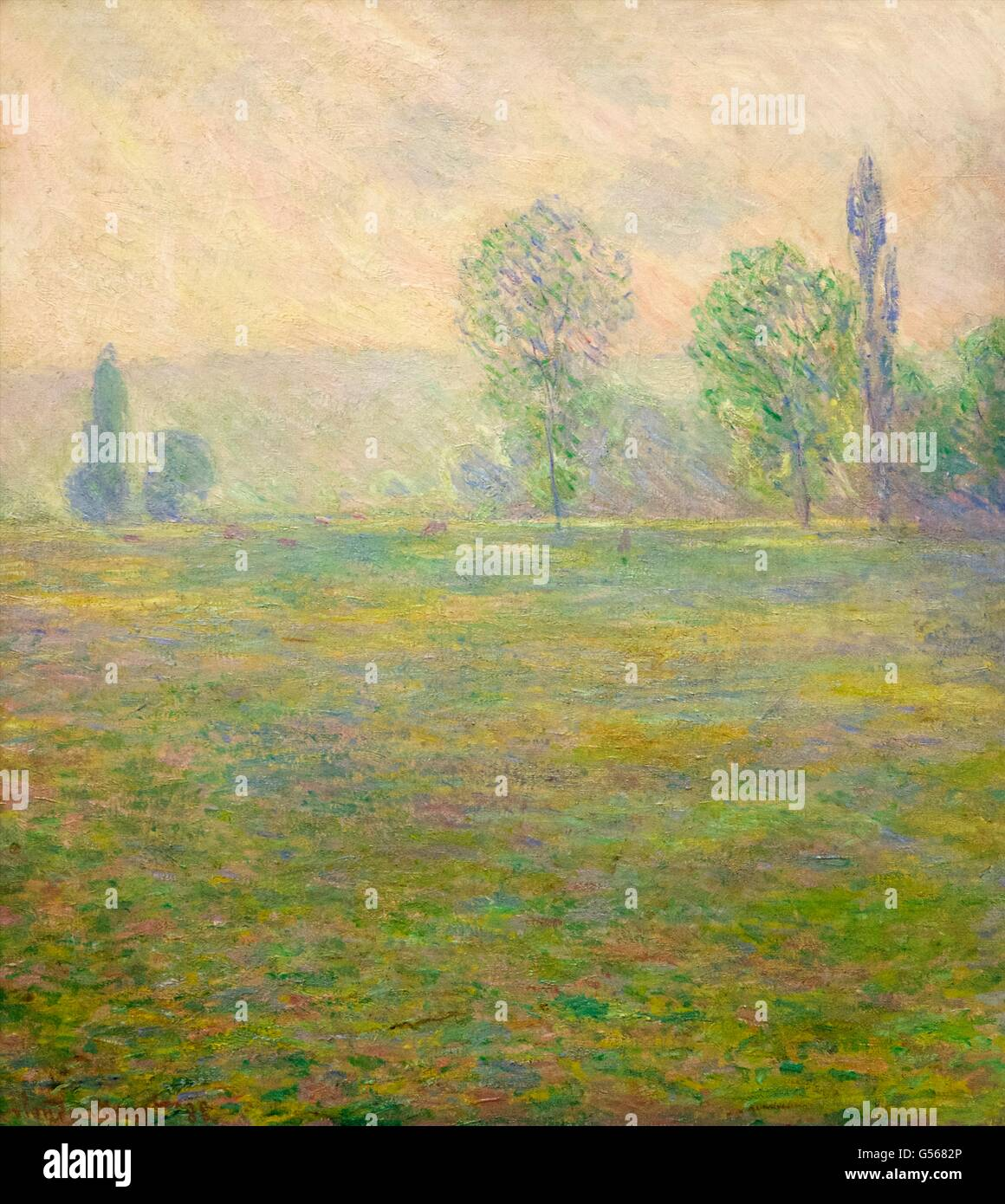 Meadows at Giverny, by Claude Monet, 1888, State Hermitage Museum, Saint Petersburg, Russia - Stock Image