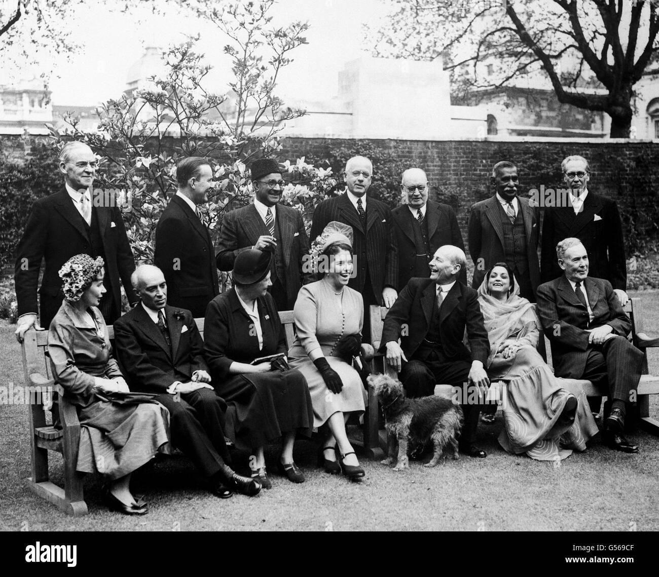 Politics - Commonwealth Statesmen Meeting - Downing Street, London - Stock Image