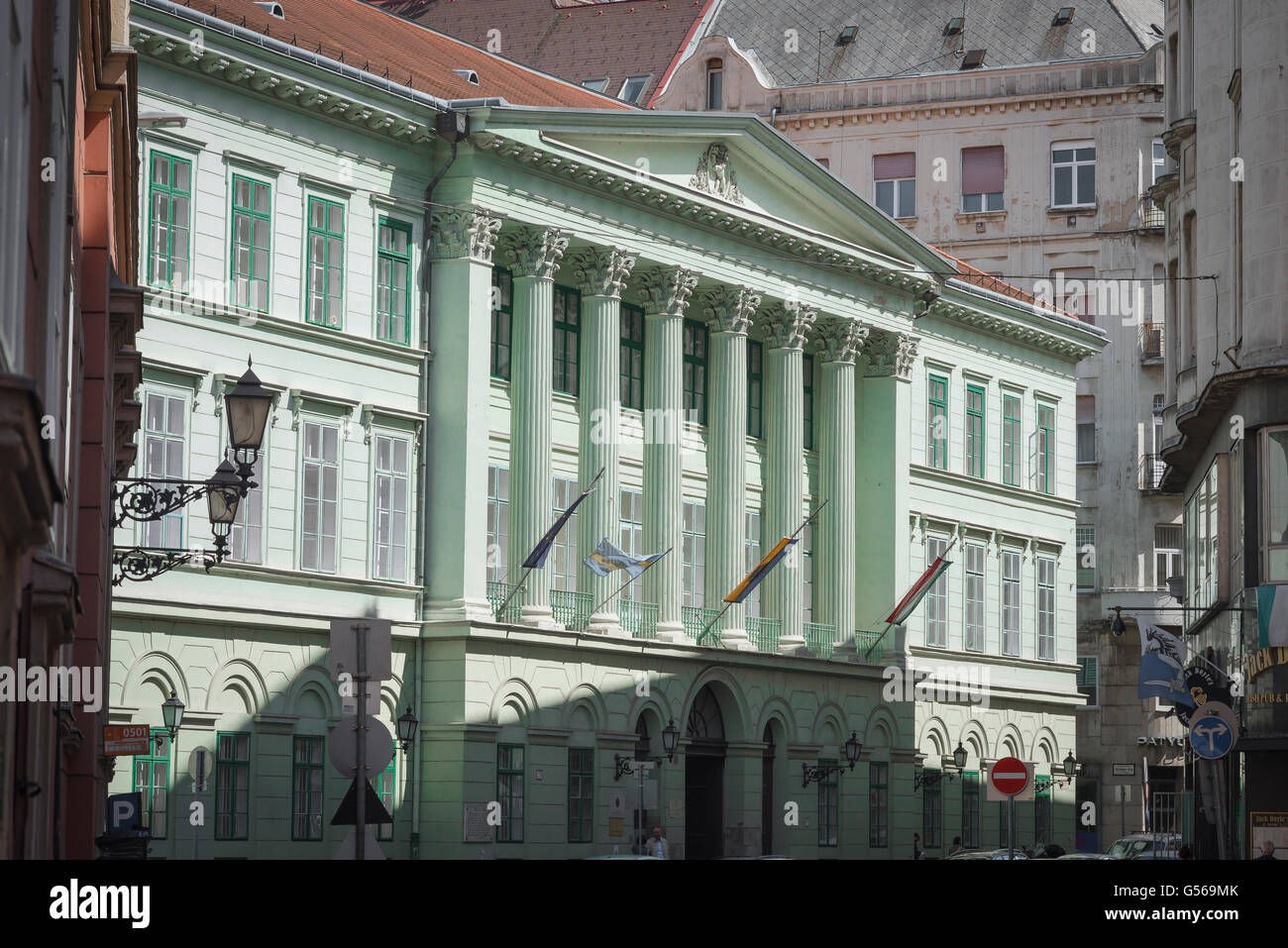 Belvaros Budapest, Pest County Hall in the Belvaros area of central Budapest, Hungary. - Stock Image