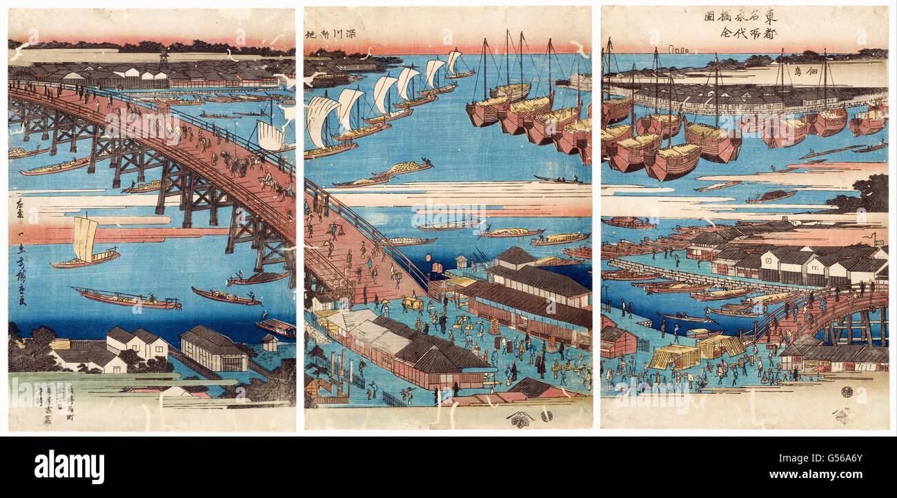 Utagawa Hiroshige - Woodcut (570053) - Stock Image